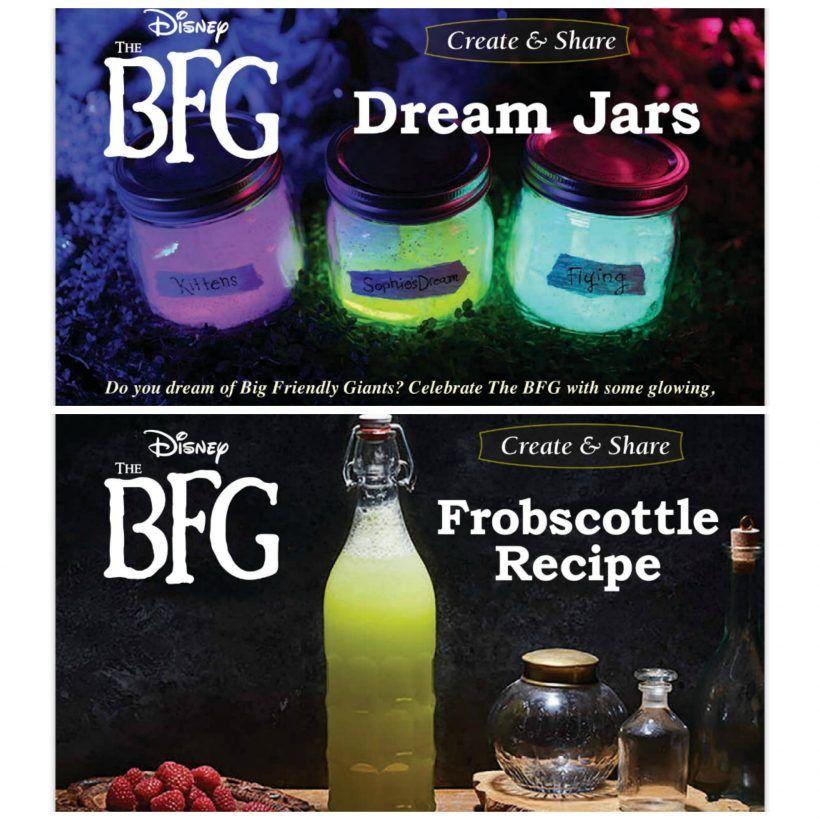 The BFG Dream Jar Coloring Page Disney DIY