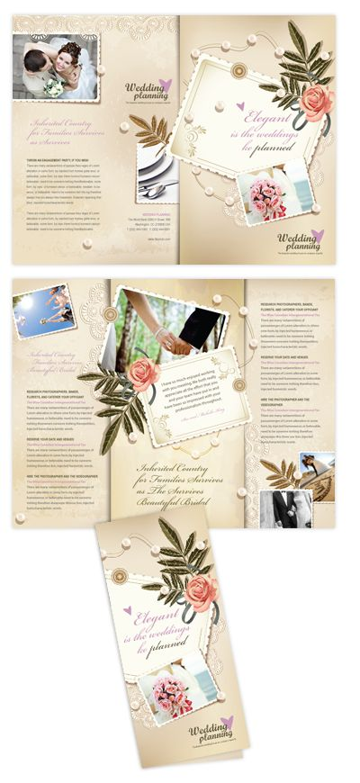 Wedding Planner Tri Fold Brochure Template Will Be A Good