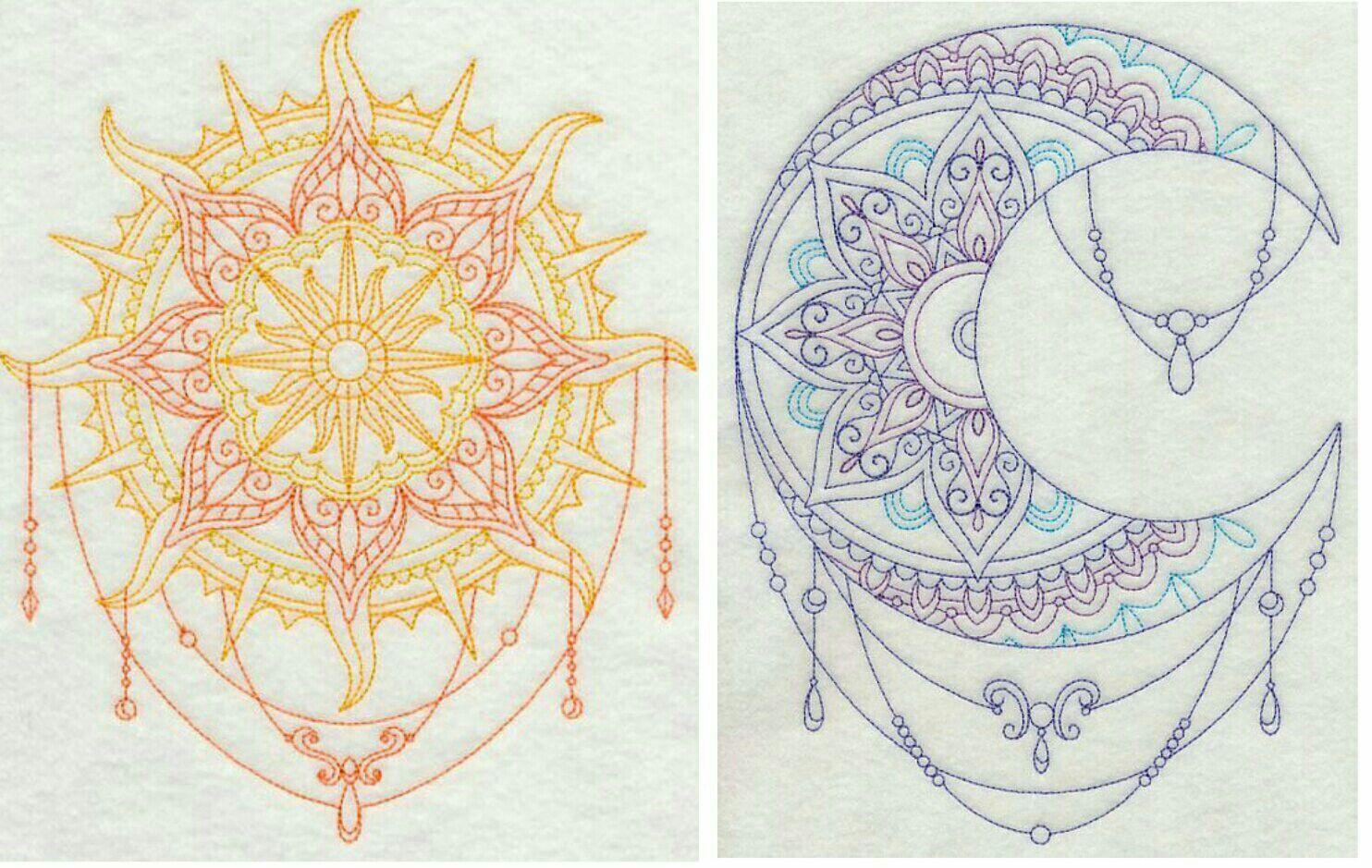 boho-sun-vintage-vector-decorative-drawing-vector ...  |Sun And Moon Design Drawing