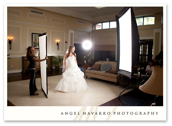 Wedding Photography Lighting Setup: Here Is The Setup For Andrea's Bridal Portrait. This Pull