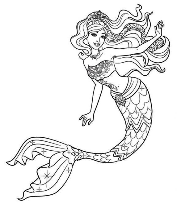 Realistic The Mermaid Coloring Page Ariel Mermaid Coloring Pages Mermaid Coloring Book Barbie Coloring Pages