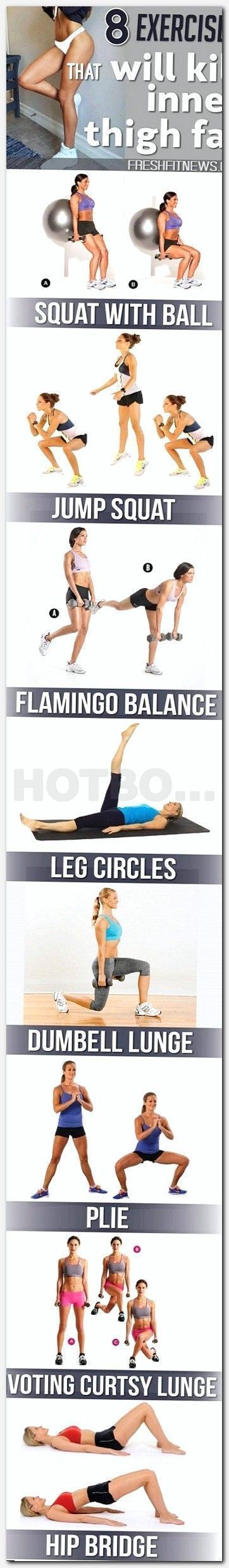 Inner Thigh Workout and Tone Leg  How to Get Rid of Thigh Fat and
