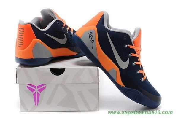 more photos 7ca27 fd713 Nike Kobe 9 EM 74194-004 Azul Laranja