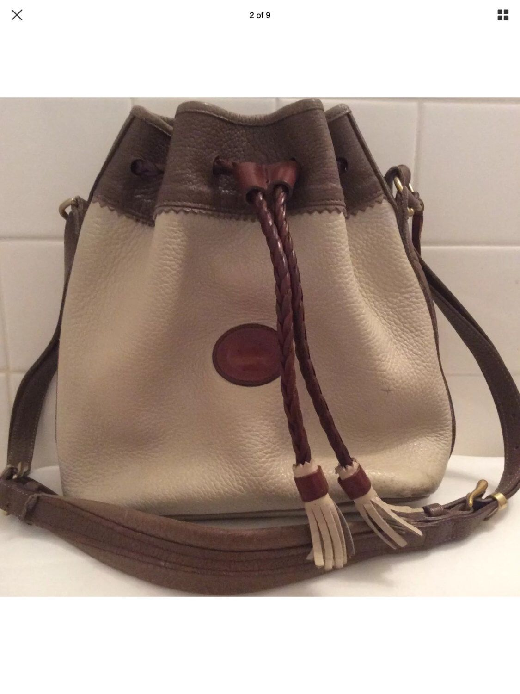 Vintage Dooney   Bourke Handbag   Pebbled Leather   Drawstring   Vintage  Handbag   Retro Purse   Authentic   Designer Purse   Retro Satchel  4eb6ea3b8c6d4