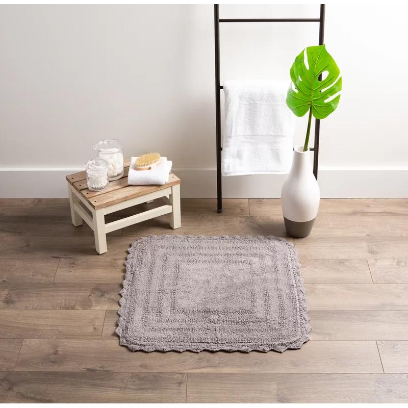 Csair Crochet Square 100 Cotton Reversible Bath Rug In 2020 Bath Rug Reversible Bath Rugs Rugs