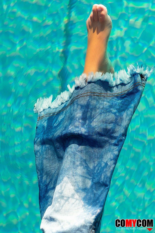 mit jeans ins wasser