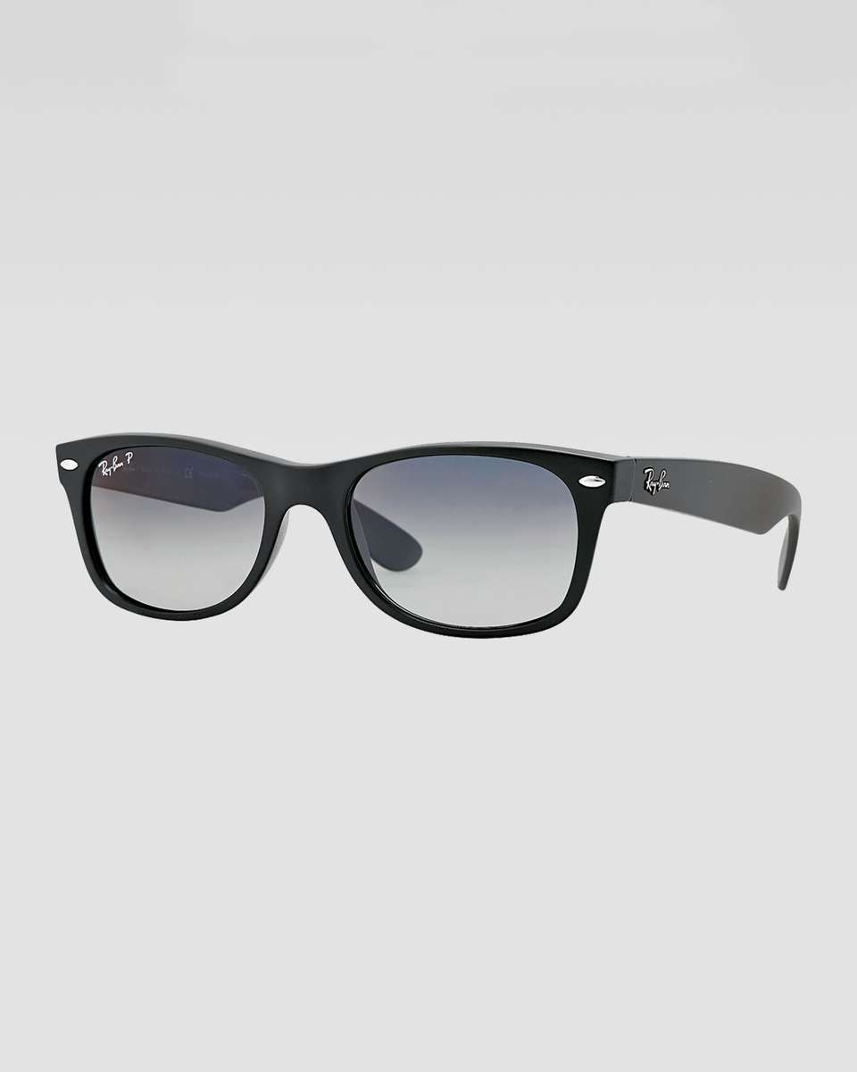 Ray Ban New Wayfarer Polarized Sunglasses Matte Black Polarized Sunglasses New Wayfarer Sunglasses