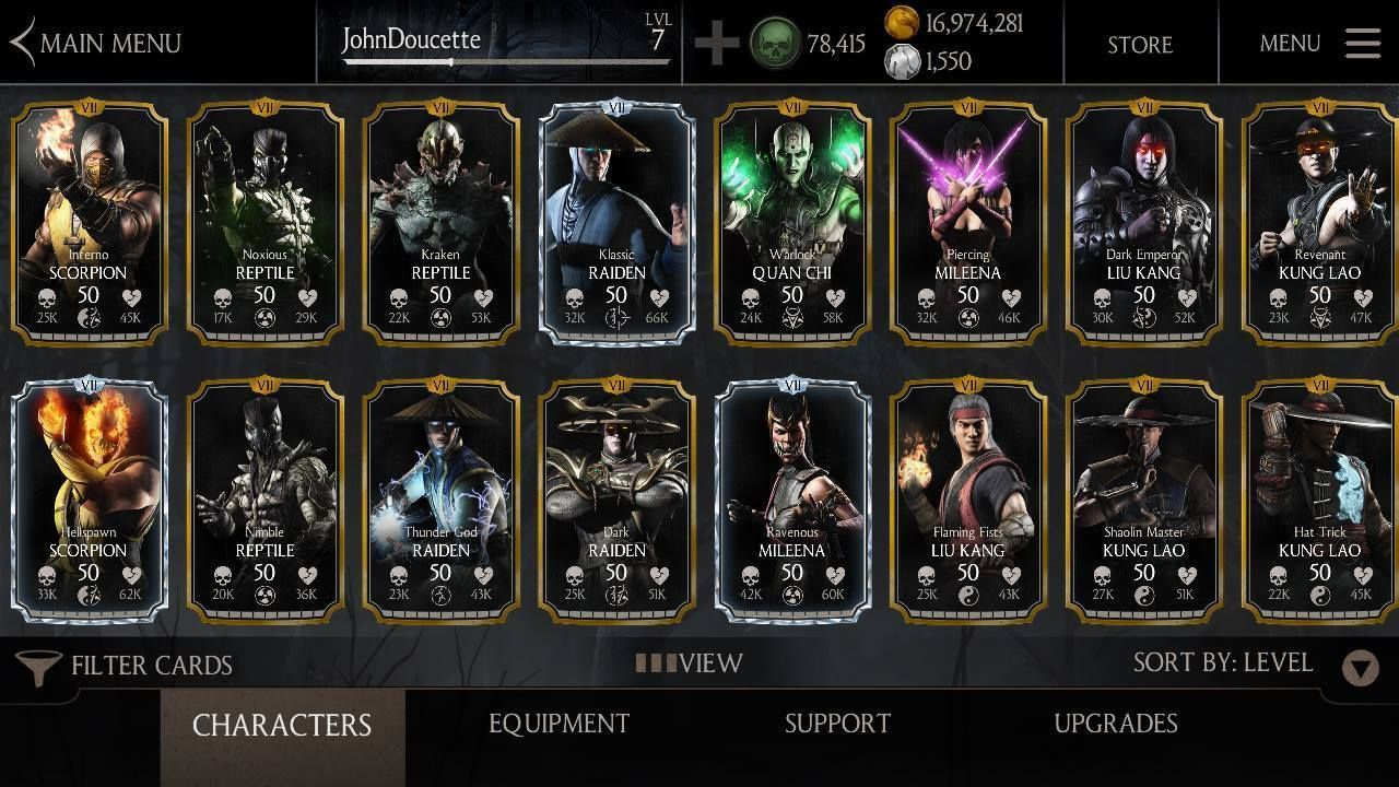 $5 - Mortal Kombat X Mobile Android & Ios Any Character Or Equipment