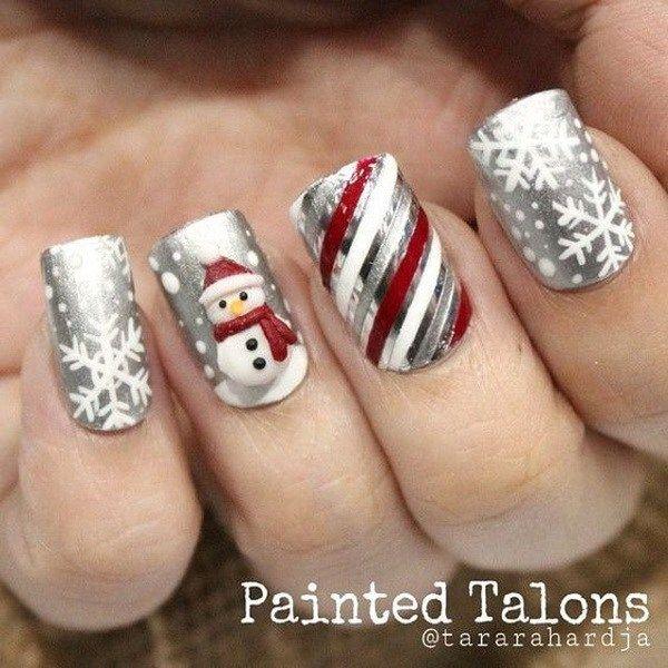 70 Festive Christmas Nail Art Ideas Christmas Nails New Year
