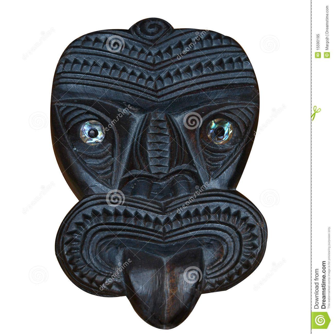 tribal face masks | Maori Wood Carved Tiki Mask Royalty Free Stock Photo - Image: 15590195