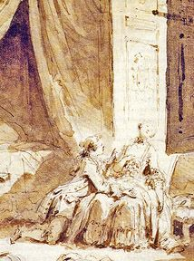 FRAGONARD Jean-Honoré (1732-1806) -  Les Contes de La Fontaine / Musée du Petit Palais, Paris