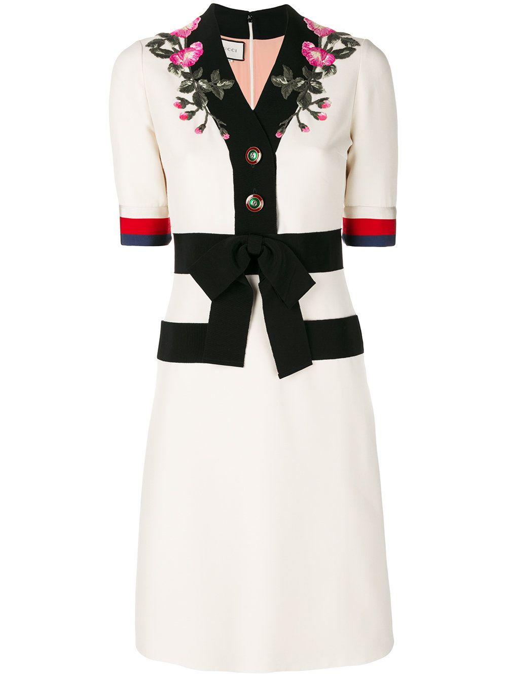 Gucci Kleid mit Webstreifen  Gucci kleider, Kleidung, Kleider