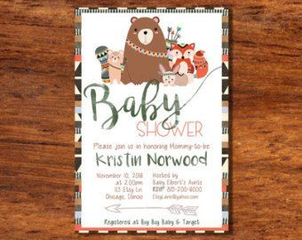 photograph about Free Printable Woodland Baby Shower Invitations identified as No cost Printable Woodland Kid Shower Invites. . Free of charge