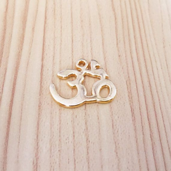 Om Necklace Yoga Necklace Gold Plated Om Friendship by BijouStore
