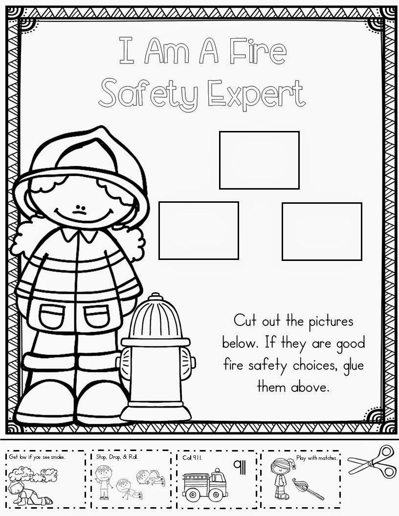 Mrs Mcginnis Little Zizzers Fire Safety Fire Safety Worksheets Fire Safety Preschool Kindergarten Worksheets [ 1056 x 816 Pixel ]