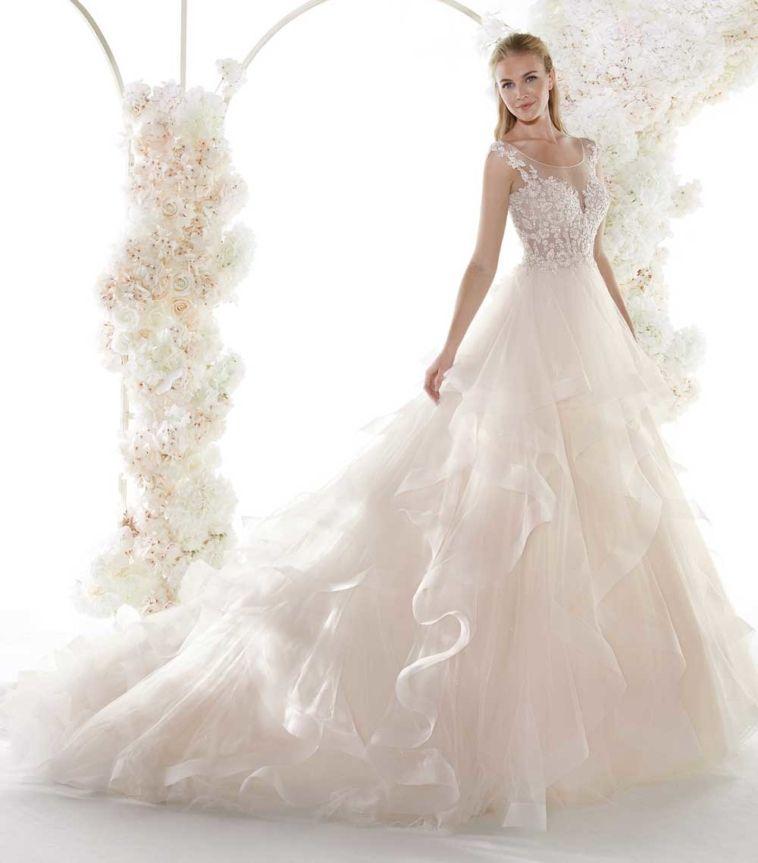 Nicole Spose 2021 Intera Collezione Abiti Beautydea Abiti Da Sposa Economici Abiti Da Sposa Abiti Da Sposa E Acconciature