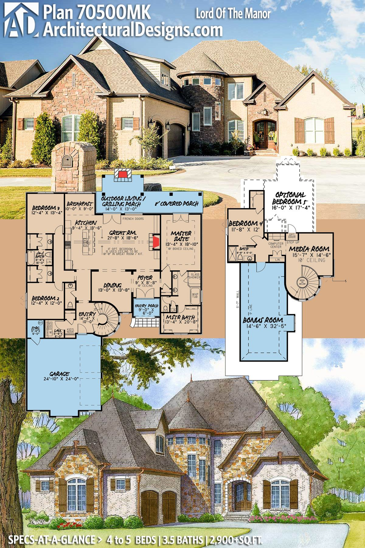 Plan 70500MK: Lord of the Manor in 2019 | House plans ... on green plan, church plan, salvation plan,