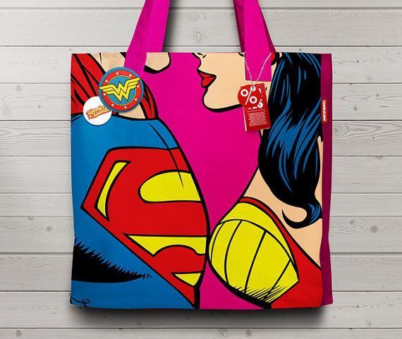 Love is... loving you - Wonder Woman and Superman Poster. Customizable Comic Book Illustration, Hig