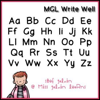 MGL Free Font - Write Well | fonts | School fonts, Fonts, Computer font