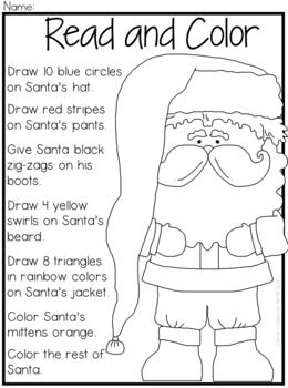 Christmas Coloring Comprehension FUN