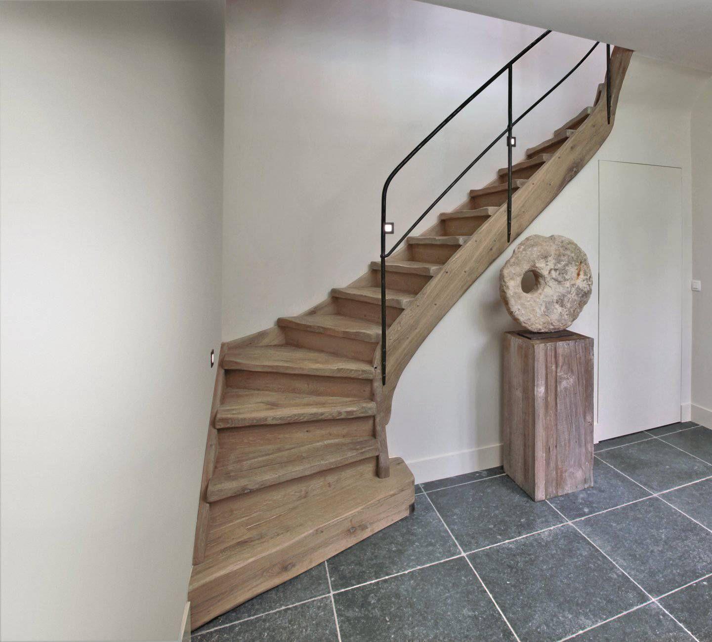 Afbeeldingsresultaat voor landelijke trappen huis pinterest natural interior staircases - Huis trap ...