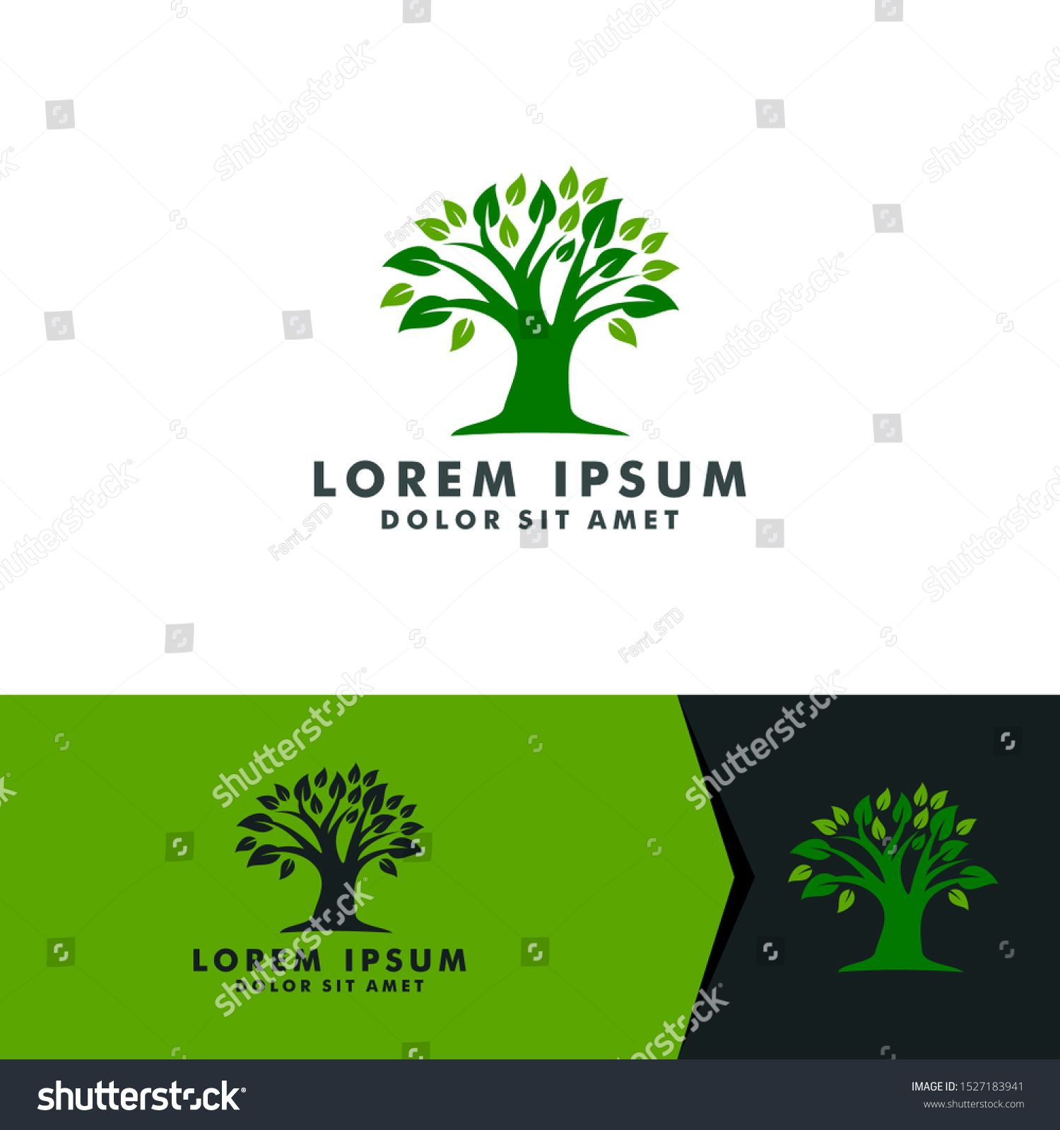 Tree logo design, nature forest icon vector illustration #Ad , #Ad, #design#nature#Tree#logo