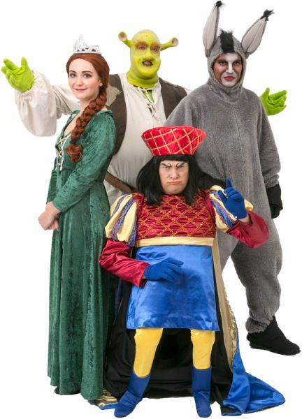 Rental Costumes for Shrek the Musical - Shrek Princess Fiona Donkey and Lord  sc 1 st  Pinterest : shrek and fiona halloween costumes  - Germanpascual.Com