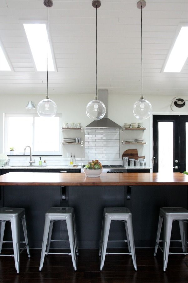 Pin By Katka On House Vaulted Ceiling Kitchen Vaulted Ceiling Lighting Kitchen Ceiling Lights