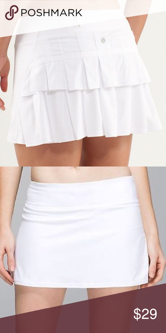 Lululemon Pace Setter Skirt Size White Ruffle This Is A Preowned White Tennis Skirt From Lululemon The Style Name I White Tennis Skirt Skirts Clothes Design