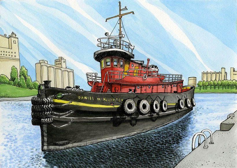 Tommy Kanes Art Blog: Tug Tug Tug Your Boat
