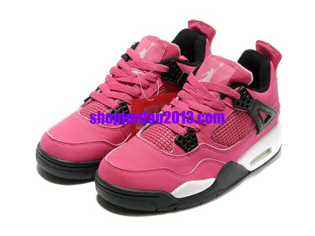 first rate 339aa 34ef3 Nike Air Jordan 4 Womens Shoes Pink White Womens Basketball Shoes  Pink   Womens  Sneakers
