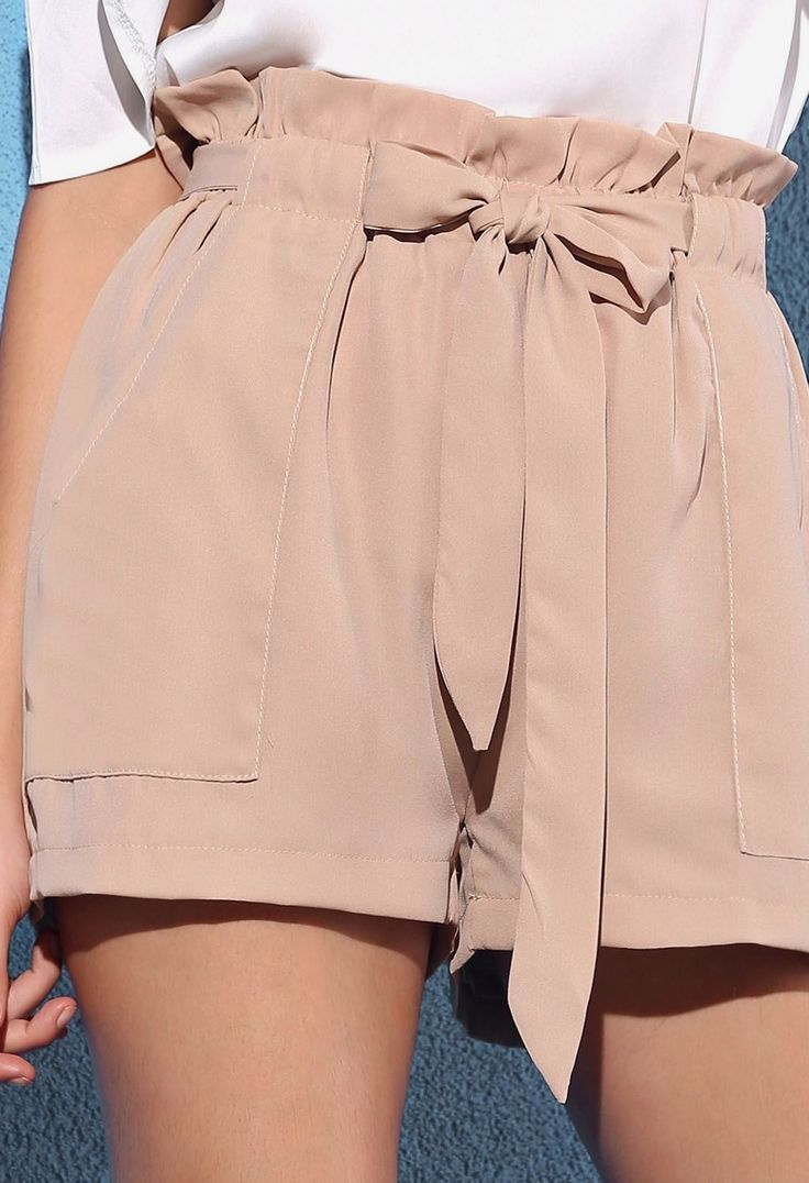 ce2726aee438 Paper bag shorts