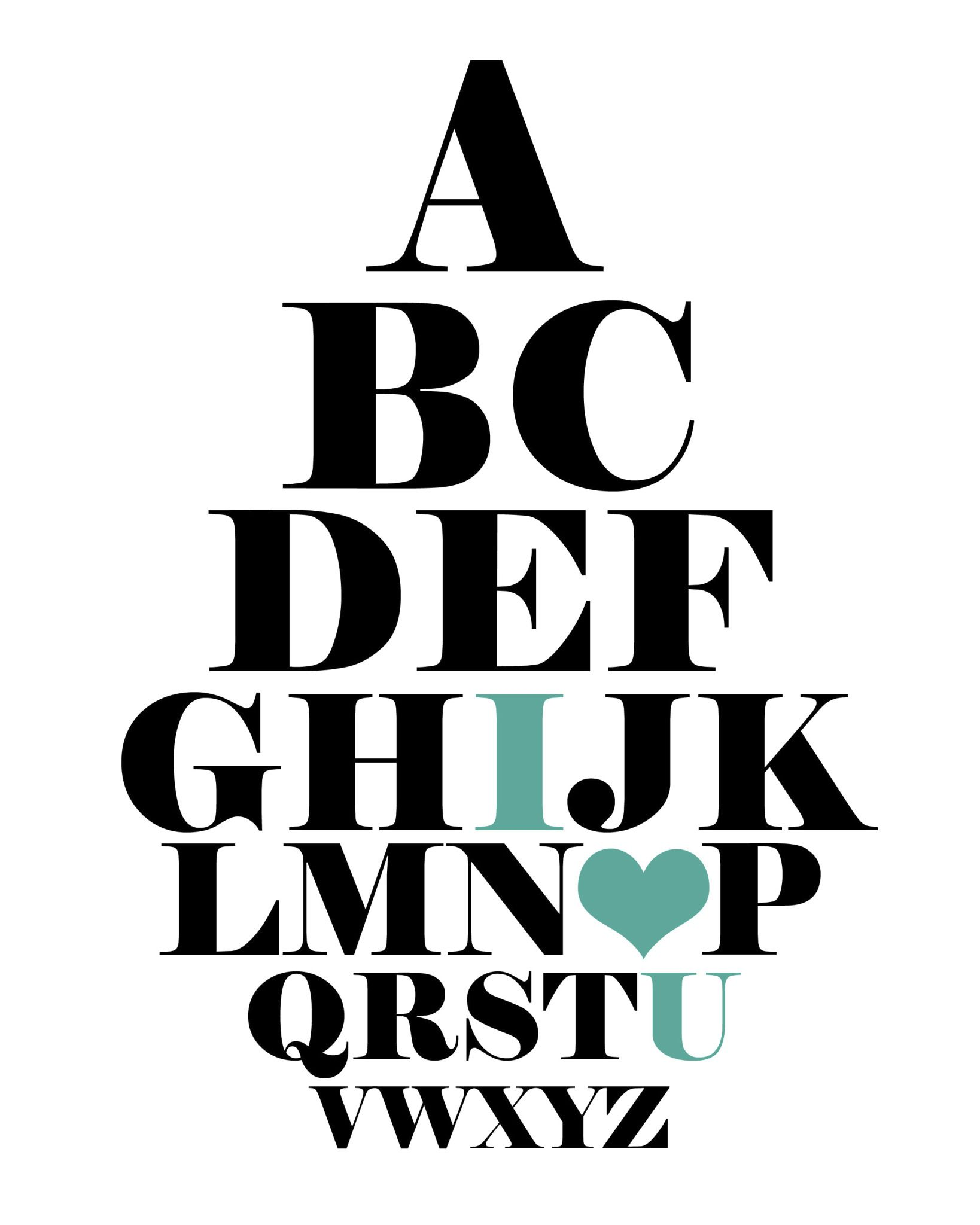 Eye Chart I Love You Tealg File Shared From Box For My