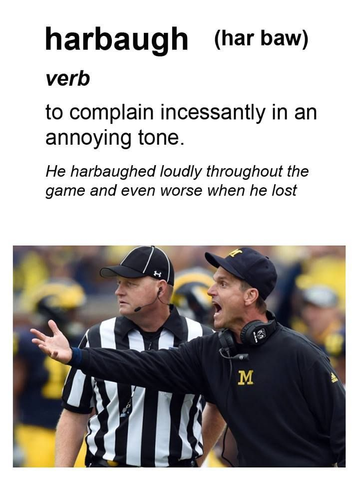 Where ever he has coached, I've never seen a coach come off the sidelines onto the field of play screaming and complaining, as much as Jim Harbaugh.