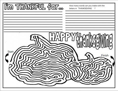 Free Kindergarten Thanksgiving Worksheets - Fun worksheets for a ...