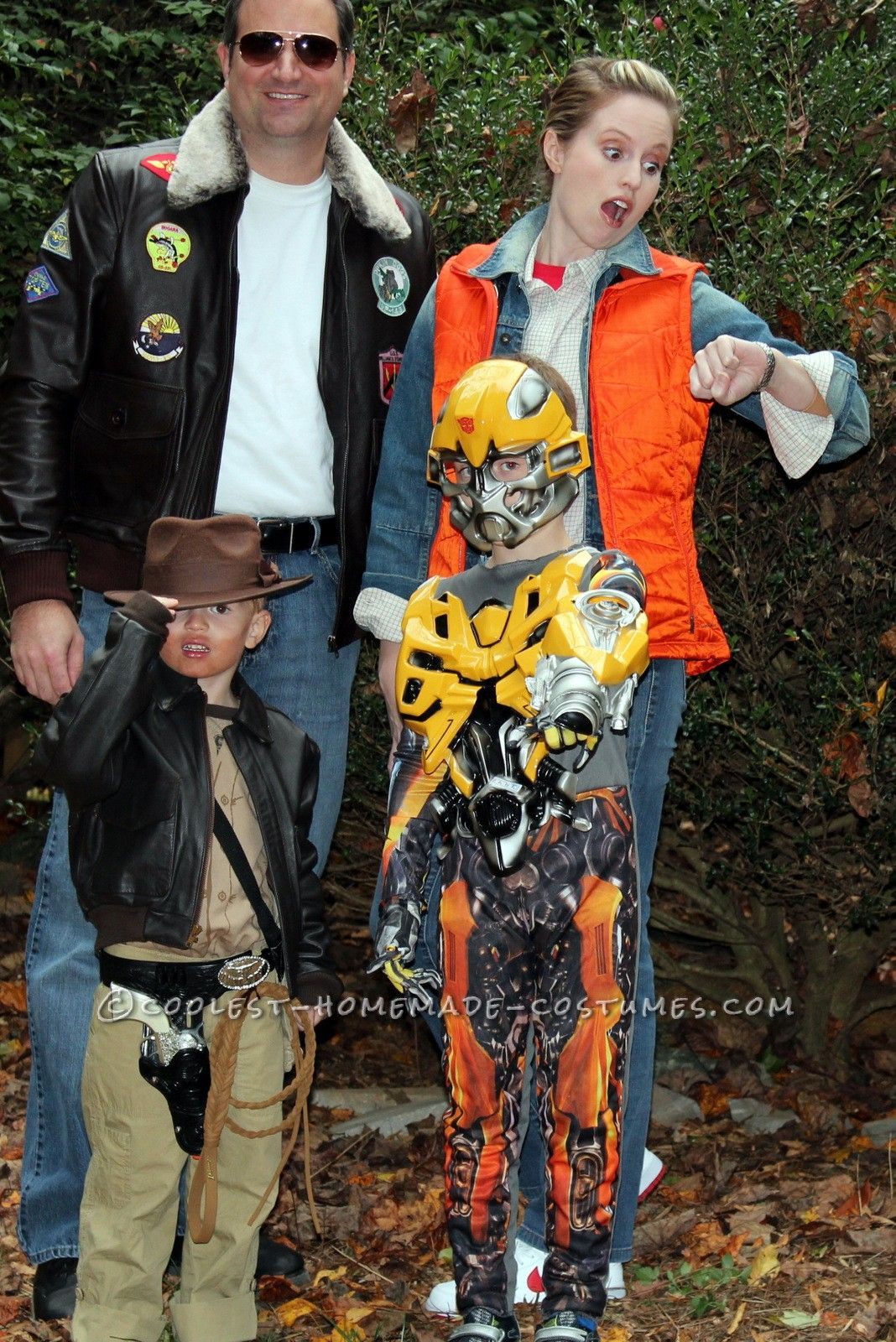 coolest homemade family costume 1980's movie characters | coolest