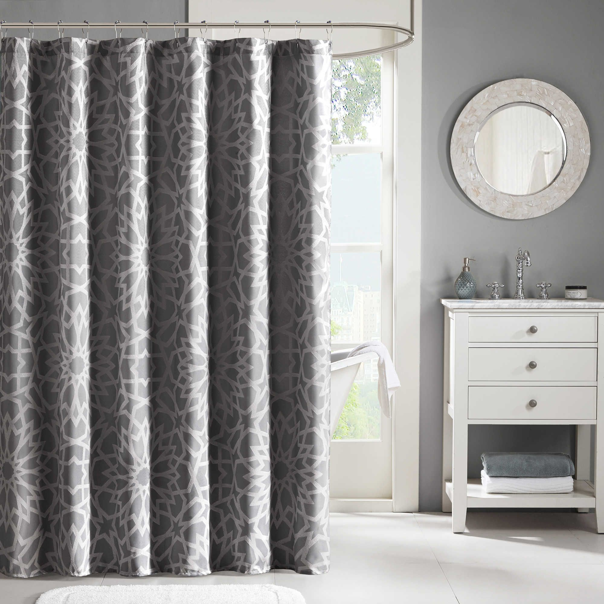Madison Park Carlow 72 Inch X 72 Inch Jacquard Shower Curtain