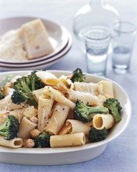 Meyer's Lemony Broccoli and Chickpea Rigatoni Recipe from Food & Wine...Suggested Pairing:  The sauce here pairs well with a crisp Northern Italian white, particularly Pinot Bianco, since the grape often has earthy, musky notes that go well with cheese. Open a bottle from the Collio region.