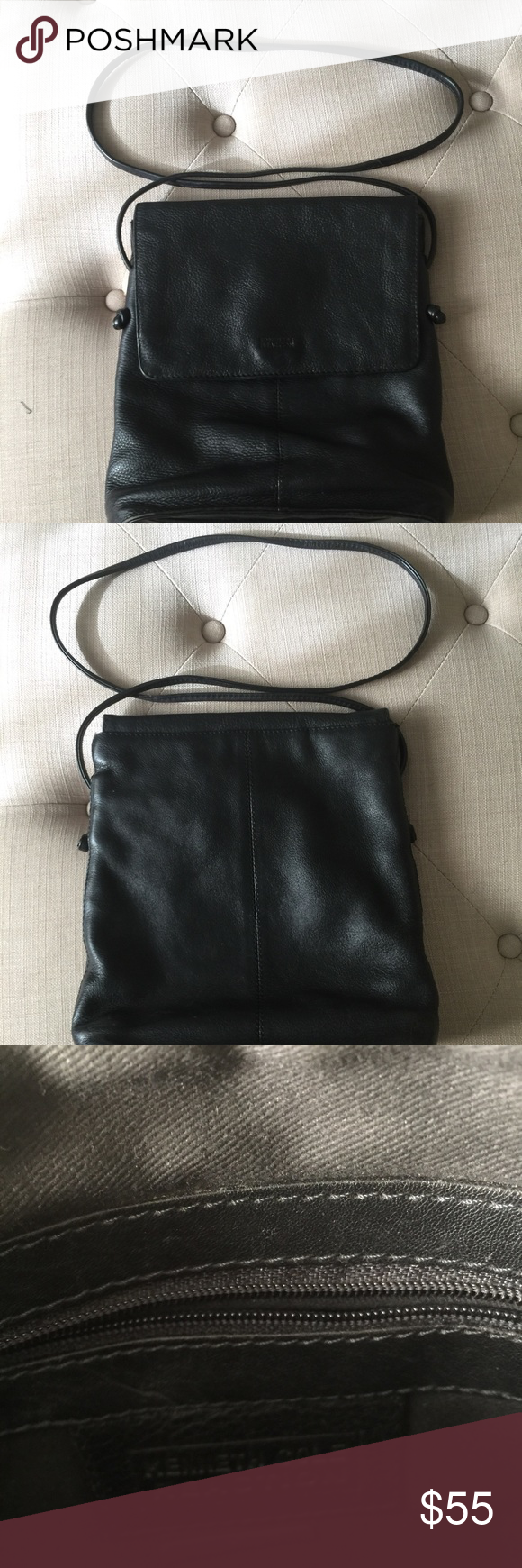 Bag Large body cross. Has pockets inside and three different compartments. Knotted end straps. A great everyday crossbody bag. Kenneth Cole Reaction Bags Crossbody Bags