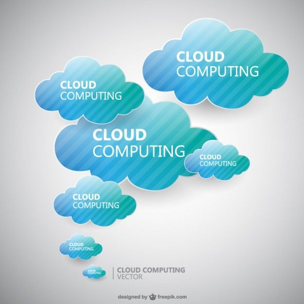 Download Blue And Green Clouds With Stripes For Free Cloud Computing Vector Free Clouds