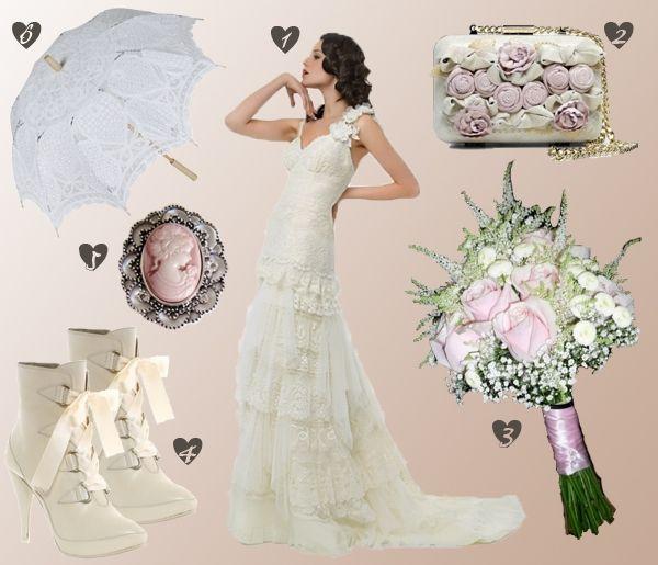 http://www.bodas.net/articulos/look-de-novia-romantico-y-vintage--c1531 #bride #weddingdress