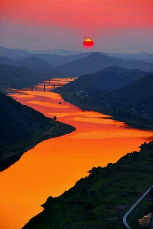 The Beautiful Orange River In South Africa