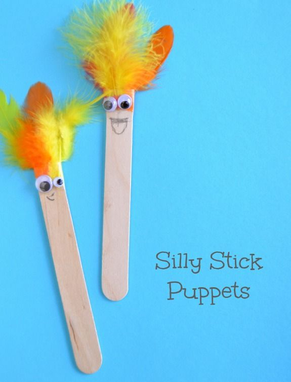 Quick Craft For Kids Silly Stick Puppets To Inspire Plenty Of Imaginative Playtime Fun