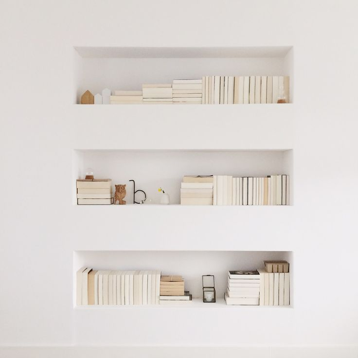 Pinned by white and minimal buildin - What did the wall say to the bookcase ...