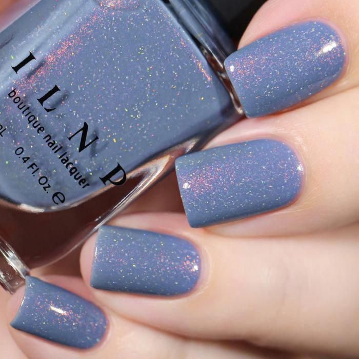 Dusk To Dawn - Dusky Blue Holographic Nail Polish by ILNP