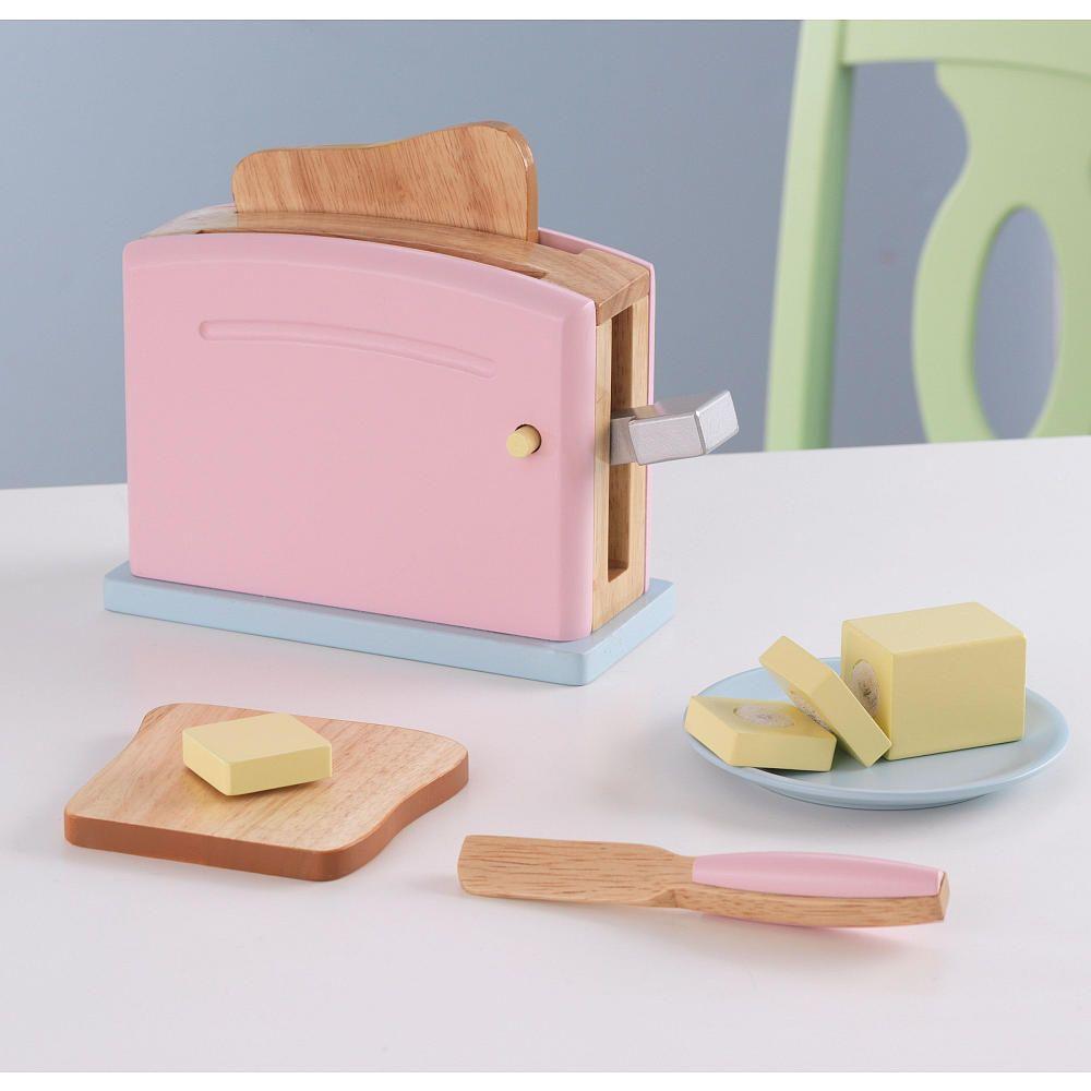 Kidkraft pastel toaster set kidkraft toys