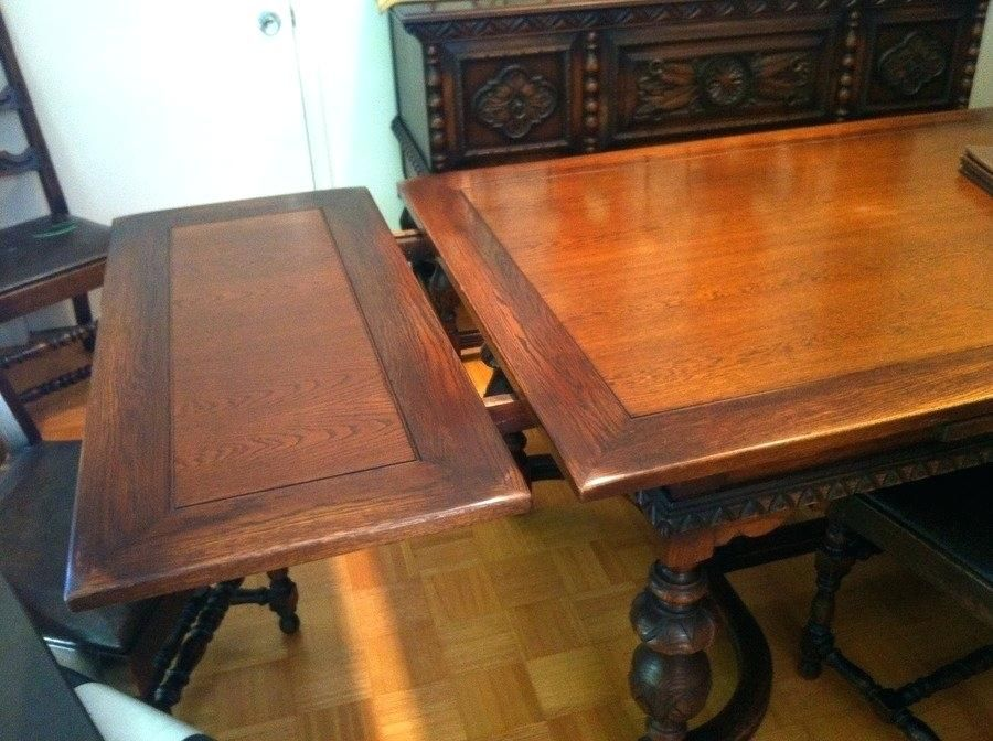 Antique Dining Room Table With Pull Out Leaves Antique Dining