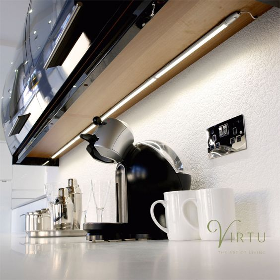 Hd Led Linkable Strip Lights Browse More Stylish Lighting Solutions At Http Www Virtukitchens Uk L Strip Lighting Kitchen Led Lighting Under Shelf Lighting