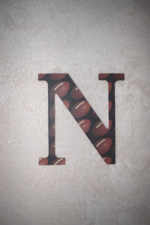 Football Nursery Letter N,Custom Boy Nursery Letter,Hanging ...