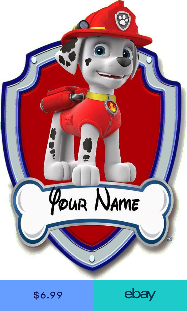 Paw patrol Tracker Marshal puppy 3D vinyl wall stickers decor sticker for kids